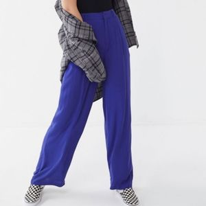 High-Rise Wide-Leg Pleated Puddle Pants, NWT